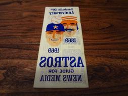 1969 Houston Astros Official Press Media Guide Team Baseball