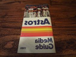 1980 Houston Astros Official Press Media Guide Team Baseball