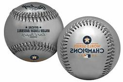 2017 World Series MLB Rawlings Replica Game Logo Silver Base