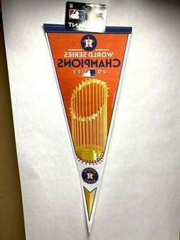 2017 World Series Champions Pennant Houston Astros Trophy Lo