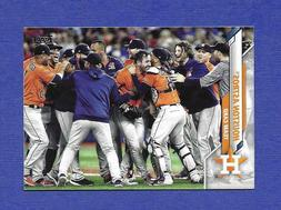 2020 TOPPS HOUSTON ASTROS TEAM SET, SERIES 1 AND 2, 27 CARDS