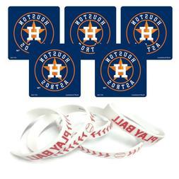 24 MLB Houston Astros Stickers & 12 Youth Baseball Party Fav