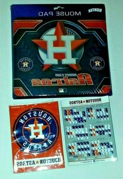 3-Pack of Houston Astros Logo Mouse Pad, 2013 Magnet Schedul