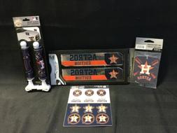 4 Piece Team ProMark Houston Astros Truck Fan Kit