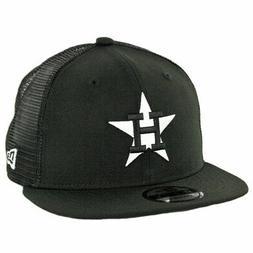 New Era 9Fifty Houston Astros Black White Trucker Snapback H