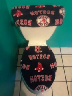 BISTON RED SOX BLUE FLEECE TOILET SEAT COVER SET clearance S