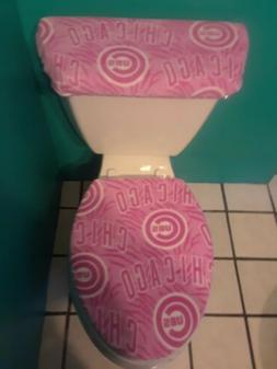 CHICAGO CUBS PINK FLEECE TOILET SEAT COVER SET clearance SAL