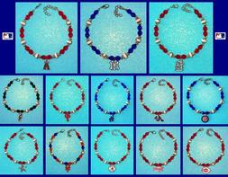 CHOOSE TEAM New ANKLET Bracelet High Quality NO Plastic Bead