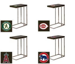 TV Tray/End Table MLB Slide-Under Couch Black Laminate  Team