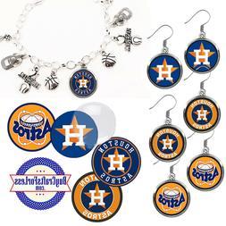FREE DESIGN > HOUSTON ASTROS -Earrings, Pendant, Bracelet, C