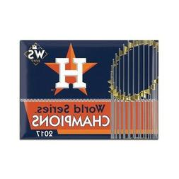 "HOUSTON ASTROS 2017 WORLD SERIES CHAMPIONS 2.5""X3.5"" METAL M"