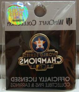 HOUSTON ASTROS 2017 WORLD SERIES CHAMPIONS COLLECTOR PIN BRA