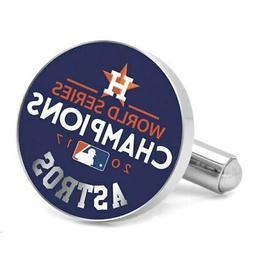 Houston Astros 2017 World Series Champions Silver Cufflinks