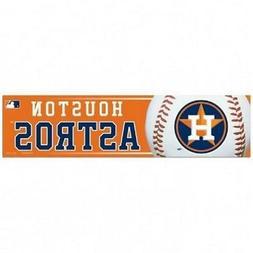 Houston Astros 3 x 12 Inch Bumper Sticker  MLB Strip Car Tru