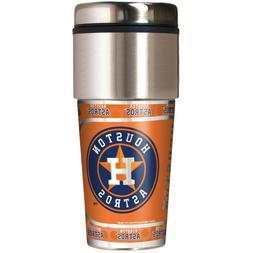 Houston Astros 360 Wrap Travel Tumbler Baseball Fan Coffee M