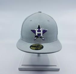 NEW ERA HOUSTON ASTROS 59FIFTY MLB FITTED BASEBALL CAP GREY