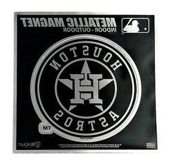 "Houston Astros 6"" Metallic MAGNET Silver Style Vinyl Die Cut"