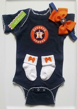 Houston Astros baby girl outfit Astros baby gift girl Astros