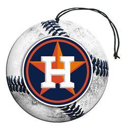 Houston Astros Baseball Air Freshener Vanilla Scent 3 Pack C