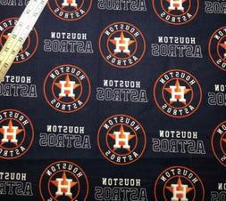 houston astros baseball cotton fabric 1 4