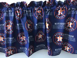 "Houston Astros Baseball Sports Handmade Valance 54"" x 13"""