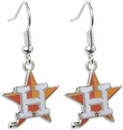 Houston Astros Baseball Team Logo MLB Silver Charm Dangle Ea