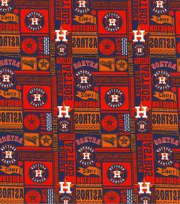 houston astros block 100 percent cotton fabric