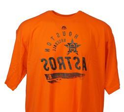 Houston Astros Brite Orange MLB Majestic 2ndary T-Shirt, Men