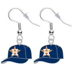 Houston Astros Cap Pierced Earrings