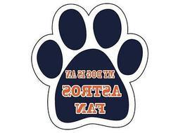 Houston Astros Car Tailgate Magnet My Dog Is A Fan Paw Anima