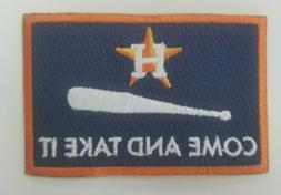 Houston Astros Come and Take it Flag Baseball Jersey Patch -