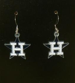 Houston Astros Dangle Earrings  MLB Licensed Baseball Jewelr