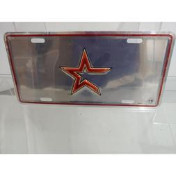 Houston Astros Deluxe Mirrored Laser Cut License Plate