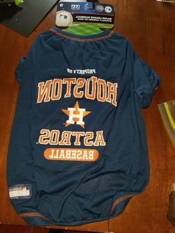Houston Astros Dog T-Shirts MLB Pet Apparel