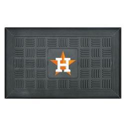 Houston Astros Door Mat 18 x 30 in. Vinyl Rubber Welcome Out