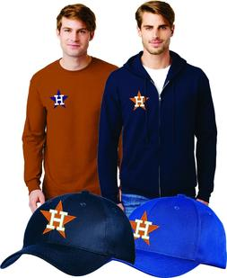 Houston Astros EMBROIDERED HATS CAPS SWEATS - CLOSEOUT 75% O