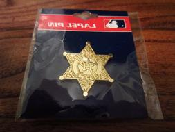 Houston Astros Gold Sheriff's Star Commemorative PSG Lapel P