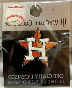 HOUSTON ASTROS H LOGO COLLECTOR PIN NEW WINCRAFT