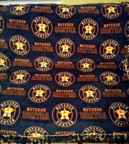 houston astros hand made tie blanket throw