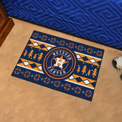 "Houston Astros Holiday Sweater Design 19"" X 30"" Starter Area"