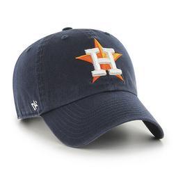 HOUSTON ASTROS HOME CAP 47 BRAND CLEAN UP STRAPBACK DAD HAT