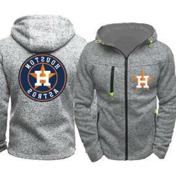 Houston Astros Hoodie Baseball Sweatshirt Zipper Jacket Spor