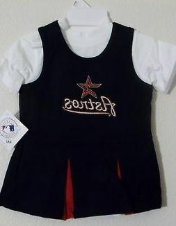 Houston Astros Infant Cheerleader Girls Dress 12m 18m 24m NE