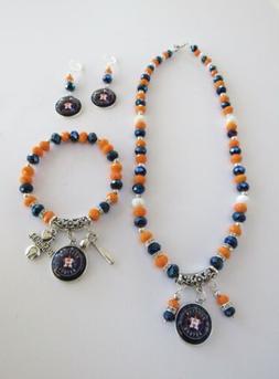 Houston Astros Jewelry - Charm Necklace, Bracelet, And Earri