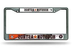 Houston Astros LBL Chrome Frame Metal License Plate Tag Cove