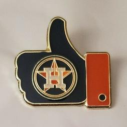 """HOUSTON ASTROS """"LIKE"""" Thumbs Up Lapel PIN"""
