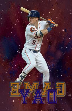 Houston Astros Lithograph print of  Alex Bregman  Game Day 1