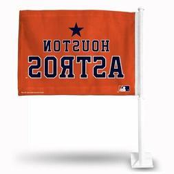 Houston Astros MLB 11x14 Window Mount 2-Sided Car Flag