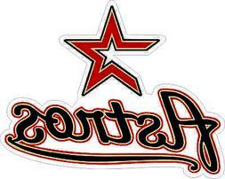 Houston Astros MLB Baseball Bumper sticker, wall decor vinyl