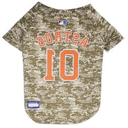 Houston Astros MLB Dog Pet Camo Hunting Jersey